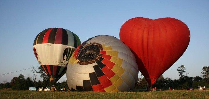 Скидка до 27% на полет на воздушном шаре в виде сердца от компании «Небо для тебе»