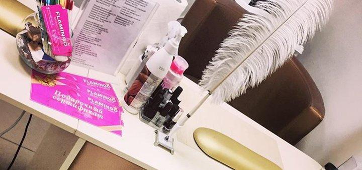 Коррекция и окрашивание бровей и ресниц в салоне красоты «Flamingo»