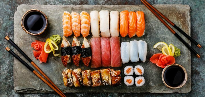 Скидка 50% на доставку суши от службы доставки «На все 100!»
