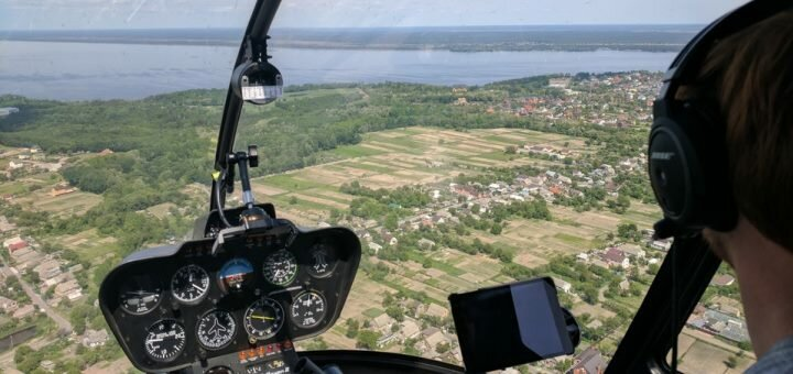 Скидка 26% на обзорный полёт на вертолете над Киевом от компании «Heliclub»