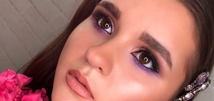 Вечерний макияж с укладкой в салоне «BeautyPROstudio»