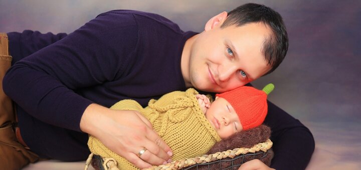 Фотосессия новорожденных от профессиональных фотографов фотостудии «Art Home Photography»