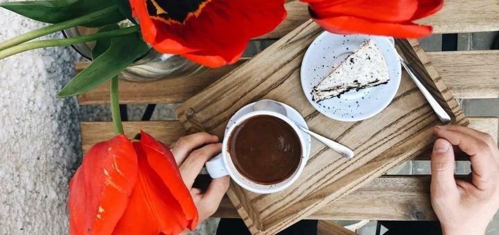 Скидка до 50% на десерты, кофейную и чайную карты в кофейне «Ля Тю Шо»