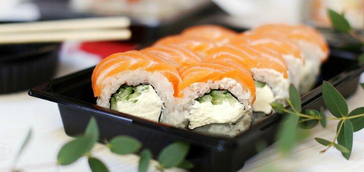 Скидка 50% на все суши, роллы и сеты в sushi place «Red Fish» на Победе