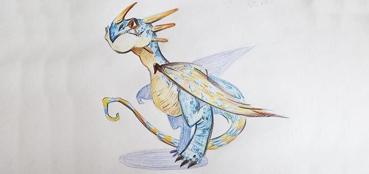 Онлайн мастер-класс «Рисуем Громгильду» цветными карандашами от студии «Tree Art»