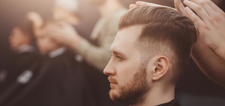 Чоловіча стрижка, стрижка бороди у студії В. Кульбацького у майстра Романа