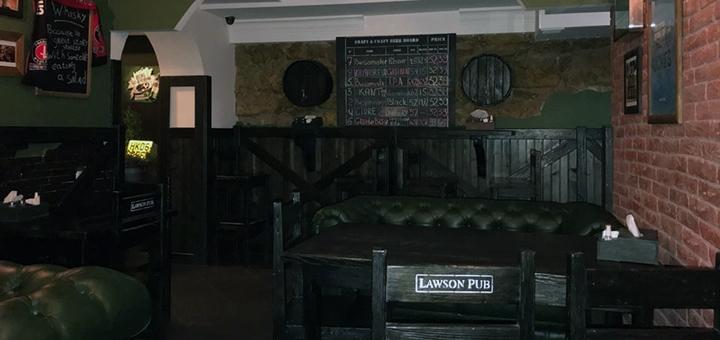 Знижка 50% на все стейк-меню та гриль-меню в шотландському пабі «Lawson Pub»