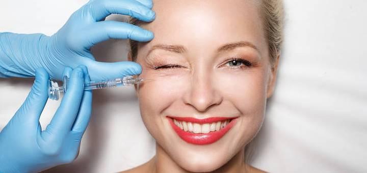 Скидка до 62% на блокирование морщин в области глаз, лба или межбровья в студии «Gelios»