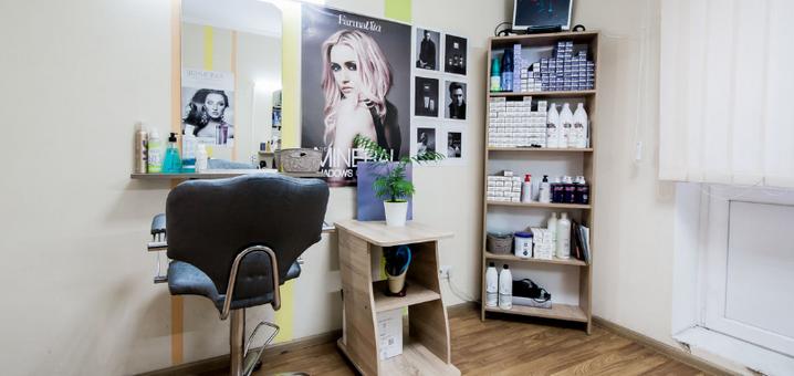 Глубокое восстановление волос со стрижкой кончиков и укладкой в салоне «Arlen beauty space»