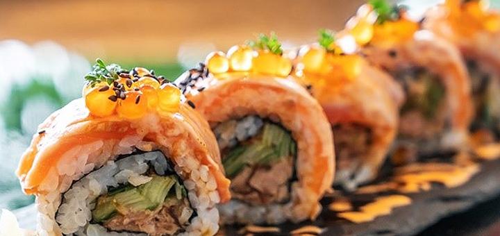 Скидка 35% на меню суши в морском ресторане «Камбуз»