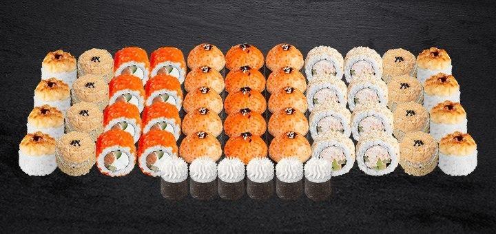 Скидка 43% на суши-сет «Могучий» от магазина-ресторана японской кухни «Суши WOK»