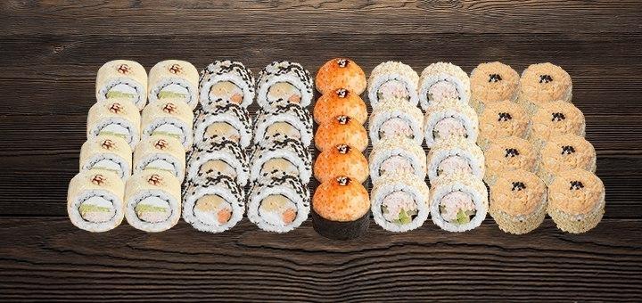 Скидка 54% на суши-сет «Ассорти» или «Могучий» в сети суши-магазинов «Суши Wok»