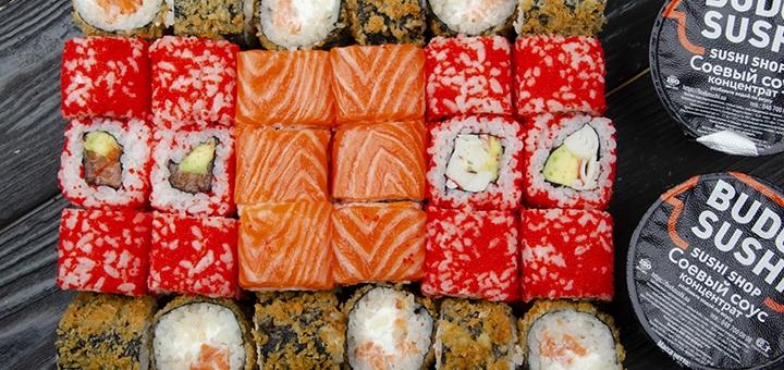 Скидка 51% на суши-бокс «Горячая Фила 1 кг» от сети магазинов «BuduSushi»