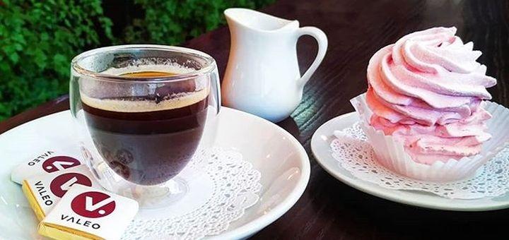 Скидка 50% на все меню напитков и десертов в кофейне «Espresso Bar»