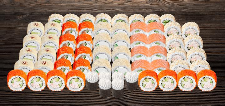 Скидка 50% на суши-сеты весом до 2 кг с доставкой или самовывозом от сети «Суши Wok»