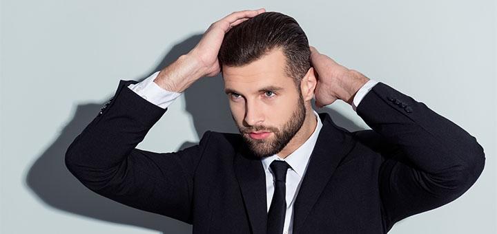 Мужская стрижка с укладкой и коррекция бороды и бровей в салоне красоты «Adelante»
