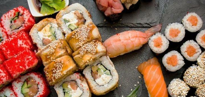 Скидка 50% на все меню суши-сетов от службы доставки «Sushi Drive»