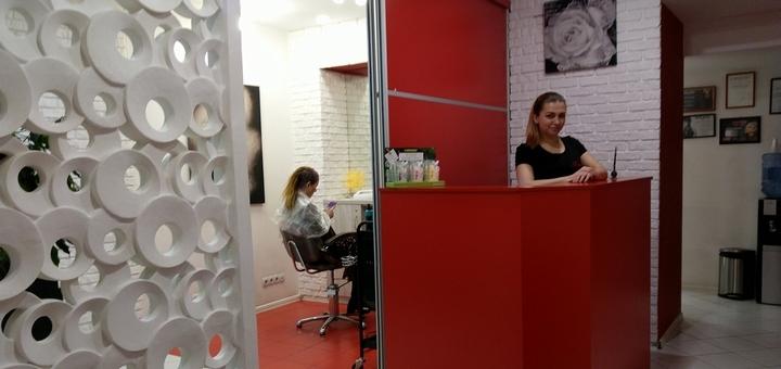Стрижка горячими ножницами, окрашивание и ламинирование волос в салоне «Fen-x»