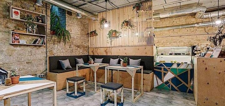 Скидка 40% на все меню кухни и бара в вегетарианском кафе «B12 Candy Bar»