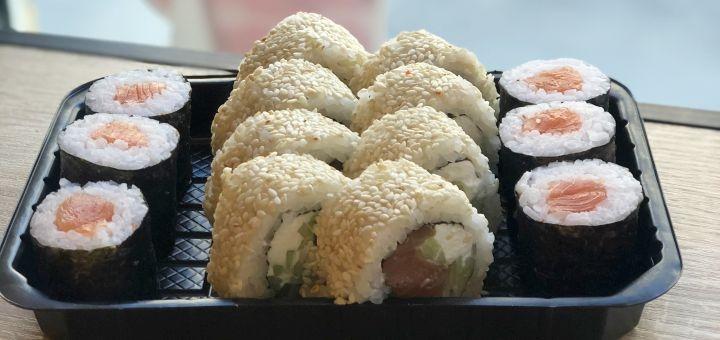 Скидка 50% на сет «Дабл Fish» от суши-бара «Свои люди»
