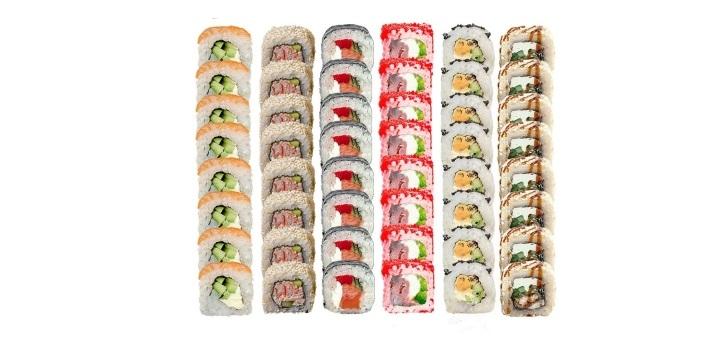 Скидка 50% на суши-сеты от службы доставки еды «XL Food»