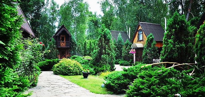 От 2 дней отдыха с завтраками и посещением бани в комплексе «Мисливський хутір» под Киевом